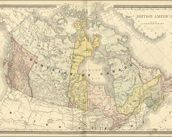 Poster, Many Sizes Available; Map Of Canada 1881