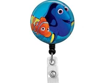 Nemo & Dory from Finding Nemo - Badge Reel Retractable ID Badge Holder