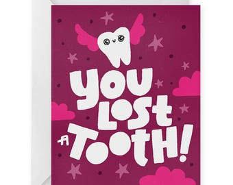 Lost Tooth A2 Greeting Card