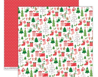 "3pcs, Elle Studio - 12x12"" Paper Sheet Good Cheer"