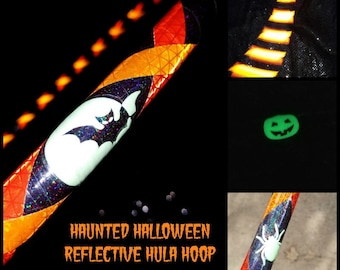 Haunted Reflective Hula Hoop - Made to Order(5/8,11/16, 3/4 Poly/HDPE)-Free Crystal Clear Protection Tape!!
