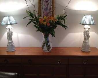 Vintage 1960s Aphrodite Grecian Style Table Lamps