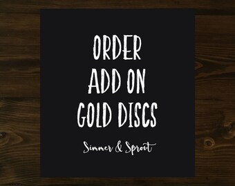 ADD ON Gold Discs, Disc Bound, Recipe Binder, Happy Planner Covers, Mini Happy Planner Cover, Laminated Covers, Disc Binding, Gold Discs