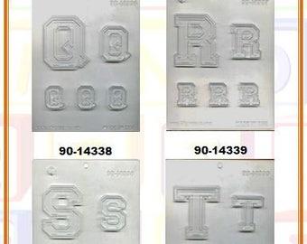 Collegiate Letters Chocolate Molds (E)