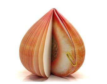 Block peach Fruit notebook Memo Notes