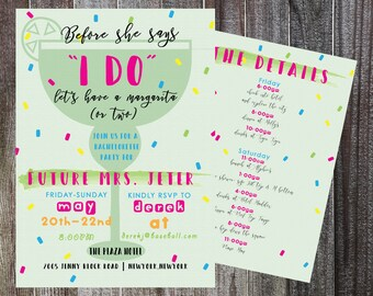 Bachelorette Fiesta Invitation