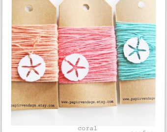 Peach Bakers Twine - 10 yds Solid Bakers Twine -  Summer Collection Assortment ,  wedding, gift tags, bunting banners