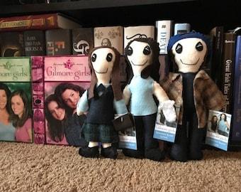 Lorelai, Rory, and Luke Bookshelf Buddies