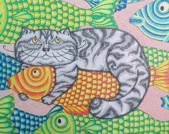 "Painting ""Cat's dreams"""