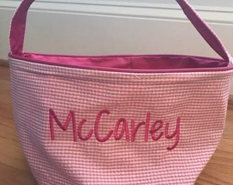 Monogrammed Easter Basket, Personalized Easter Tote