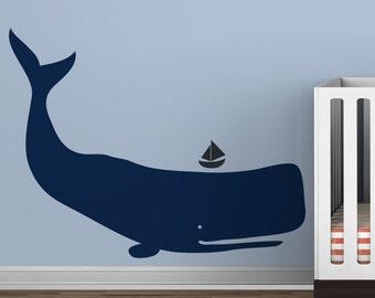 Baby Zoo Whale - Blue boys room - Ocean Kids Decor
