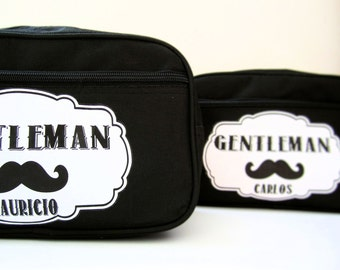 Mens Toiletry Bag, Dopp Kit Bag, Groomsmen Gift Personalized Toiletry Bag with Monogram, Canvas Custom Dopp Kit