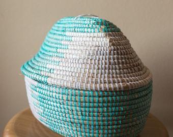 Handmade African basket hand woven