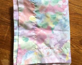 monets garden. Vintage watercolor print pillowcase
