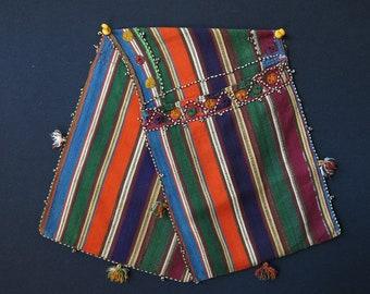 Vintage silk Azerbeijan saddle bag