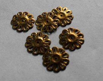 50 bronze flower shape  Sequins/100% Metal base/KBMS686