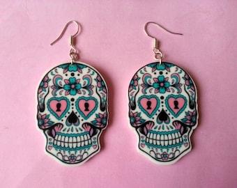 Earrings ♥ ♥ skulls Mexican ♥