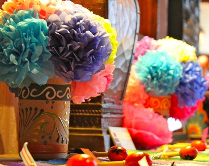 Tissue Paper Flowers (12 count) Choose Your Own Colors