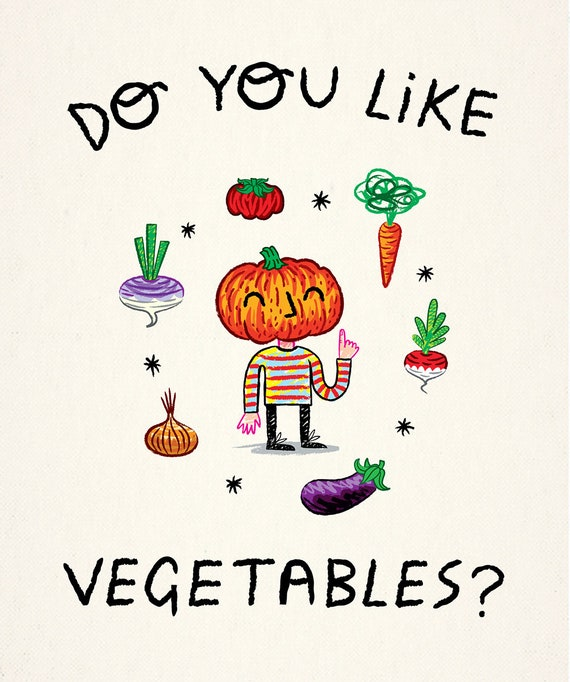 Do You Like Vegetables? - art poster print by Oliver Lake - iOTA iLLUSTRATiON
