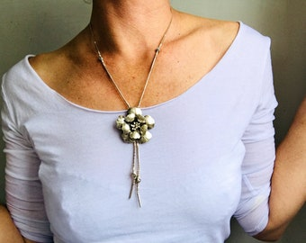 Fine Silver Flower Necklace from the Karen Hill Tribe of Thailand