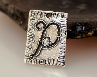 Initial Charms Whimsical sterling Silver NEW