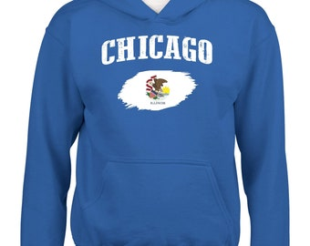 Chicago Illinois Youth Hoodie Hooded Sweatshirt