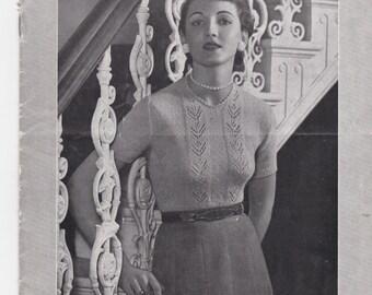 Vintage 1940s - Paton's Knitting Pattern No 336 For Women/Ladies - Original Pattern