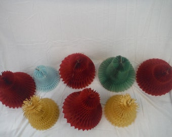 1960's Eight Bell Crepe Paper Decorations-Vintage-collection-party-wedding