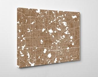 Orlando Street Map Print Map of Orlando City Street Map Orlando Florida Poster Wall Art 7146L
