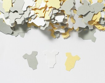 Baby Shower Decoration - Baby Shower Confetti -  Yellow and Gray