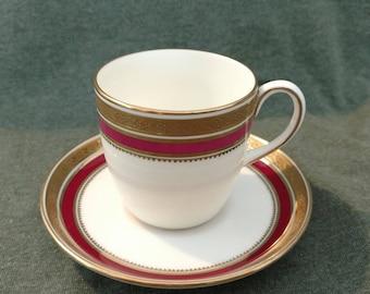 Cauldon England Demitasse Cup /Saucer Gold Rims RARE! Burley Chicago