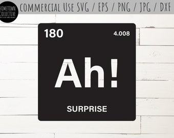 chemistry pun svg the element of surprise svg funny science science pun