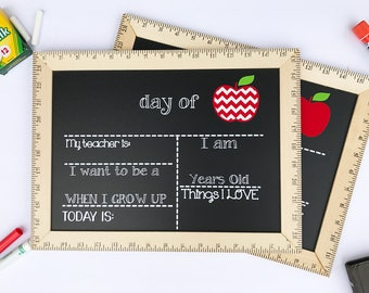 First Day of School Sign, First Day of School Chalkboard, Reusable First Day of School Sign,  First Day Chalkboard, First Day of Preschool