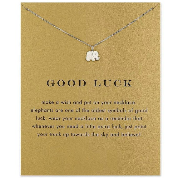 Elephant Charm Necklace Lucky Charm Baby Elephant Pendant