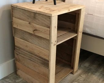 Reclaimed Rustic Industrial Pallet Night Stand