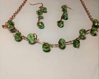 Green Crystal Demi-Parure