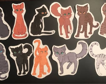 Warrior Cats Inspired Stickers