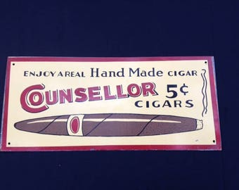 Vintage Billboard from Counsellor Cigars