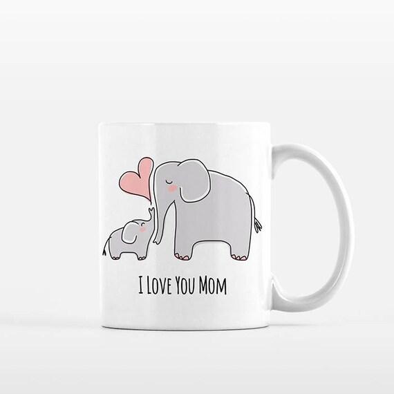 Mom Mothers Day Gift for Mom from Daughter Mom and Baby Elephant Mug New Mom Gift for Mom Mug Grandma Mug Grandma Gift Mom Coffee Mug