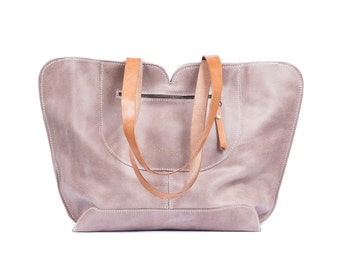 Leather Bag / Oversize Bag /  Beige Leather Bag / Leather Handbag / Tote Leather Bag / Designers Bags / Totes / Women Gifts / Gifts For Mom