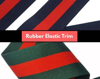 Fashion Brand Striped Rubber Elastic Band Trim, DIY Fashion Elastic Trim