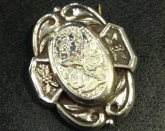 Edwardian silver brooch