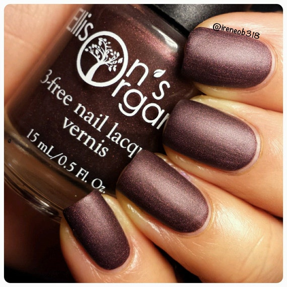 Matte Nail Polish - Maroon Nail Polish - Vegan Nail Polish - All is ...