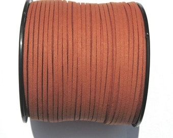 15ft Dark Orange Faux Suede Cord 3mm (No.CN2)