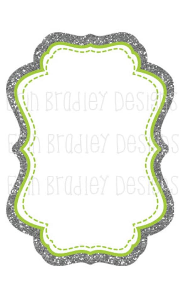 80% OFF SALE Silver Glitter Frames Clipart, Invitation Background ...