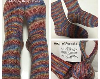 Heart of Australia Sock PATTERN ONLY