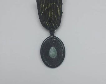 Oval Egg Mourning Jewelry Medal