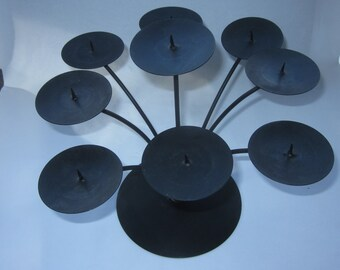 Wrought Iron Votive Candelabra, Centerpiece, Made in Mexico, Handmade, holds 9 votive candles