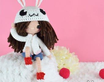 Muñeca personalizada, muñeca ooak, muñeca articulada, muñeca kawaii, muñeca adorable, muñeca amigurumi, muñeca hecha a mano, muñeca crochet