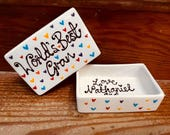 Personalised trinket dish...